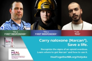 NIH HEAL Initiative awareness campaign for naloxone (Narcan)