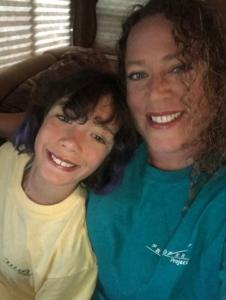 Abbi Cushing and her daughter, Olivia.